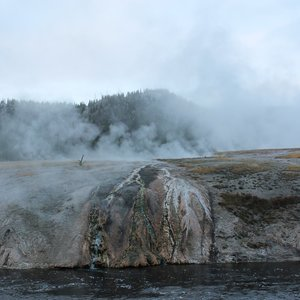 Excelsior Geyser runoff into Firehole River